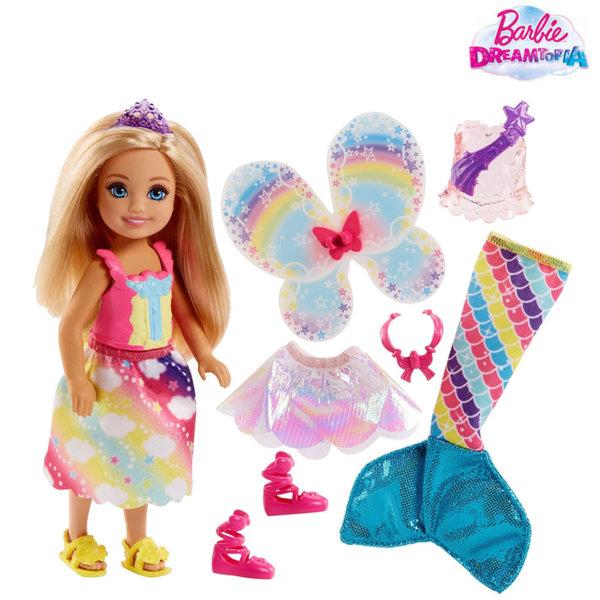 Barbie Dreamtopia Кукла Челси с три тоалета FJD00