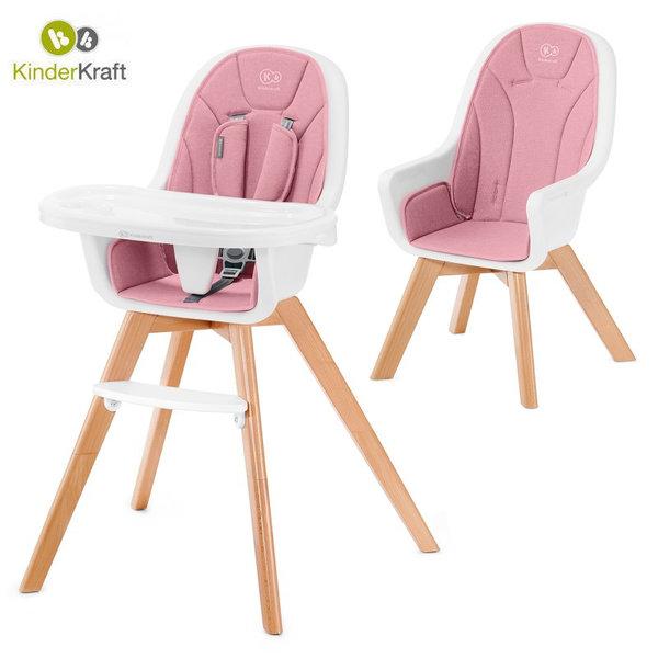 Kinderkraft Детски стол за хранене Tixi розов 22697