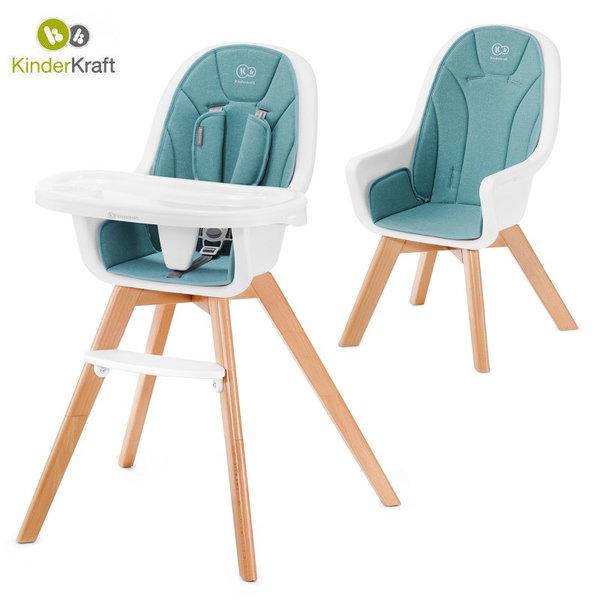Kinderkraft Детски стол за хранене Tixi тюркоаз 22698