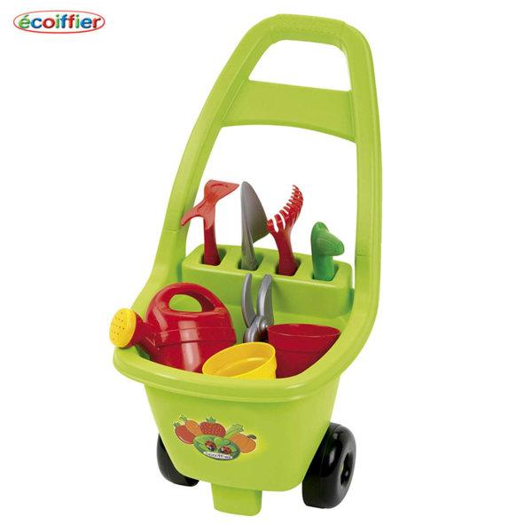 Ecoiffier Детска градинарска количка с инструменти 00479