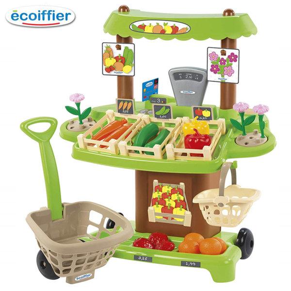 Ecoiffier Детски магазин Плод и зеленчук с пазарска количка 1741