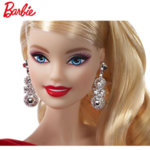 Barbie Holiday 2019 Барби Празнична кукла в червена рокля FXF01