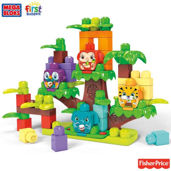 Fisher Price Mega Bloks Строител музикалнo дърво в джунглата GGG11