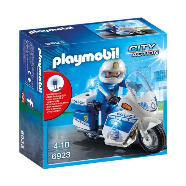 Playmobil Полицейски мотор с LED светлина 6923