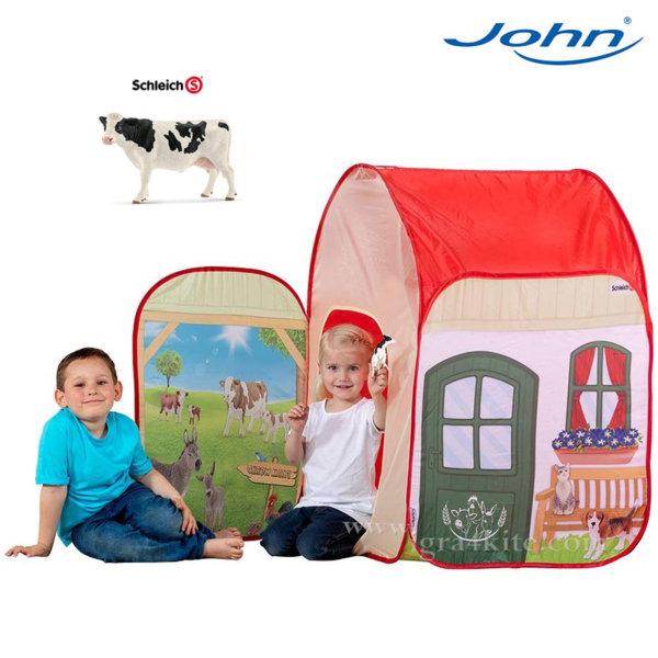 John Детска палатка Ферма с фигурка Schleich 77052