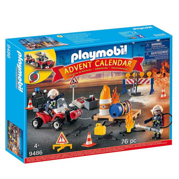 Playmobil Коледен календар Пожарна команда в действие 9486