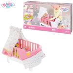 Baby Born Легло за кукла с балдахин 827420