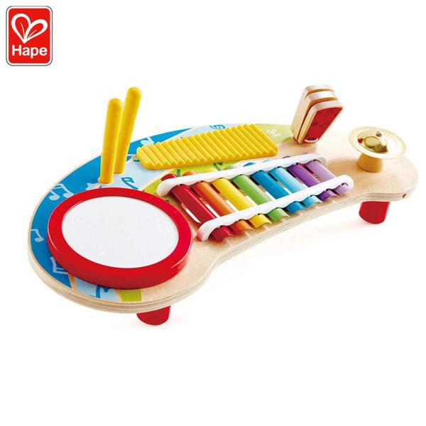 Hape Дървена масичка с музикални инструменти Мини оркестър H0612