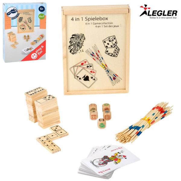 Legler Дървени класически игри 4в1 2866