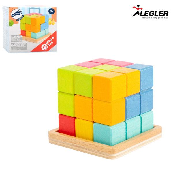 Legler Дървено кубче 3D тетрис 11346