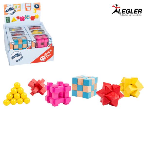 Legler Дървен 3D логически мини пъзел 11284