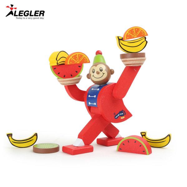 Legler Дървена игра за баланс Циркова маймунка 10007