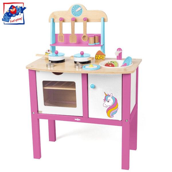 Woody Детска дървена кухня Еднорог 90255