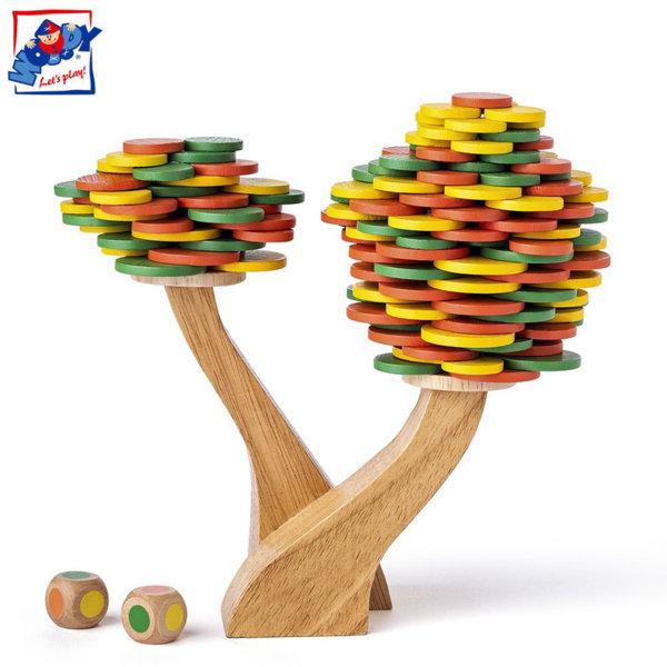Woody Дървена игра за баланс Есенно дърво 90918