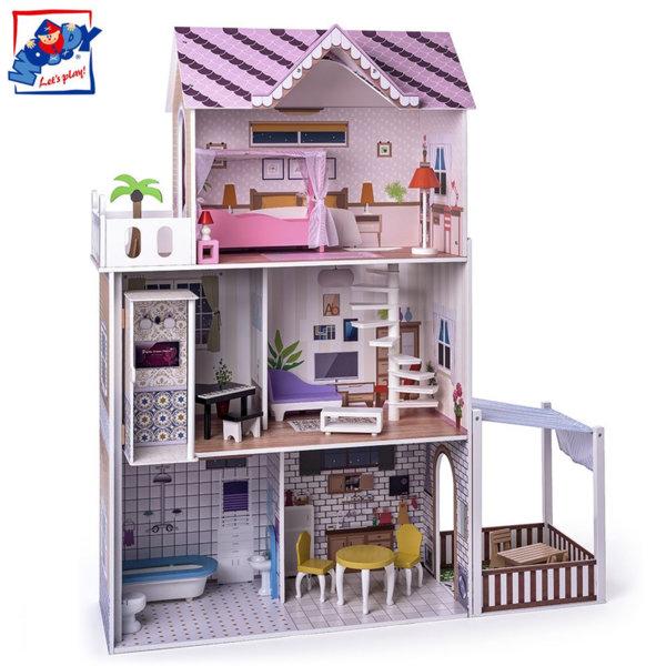Woody Дървена куклена къща Малибу 91331