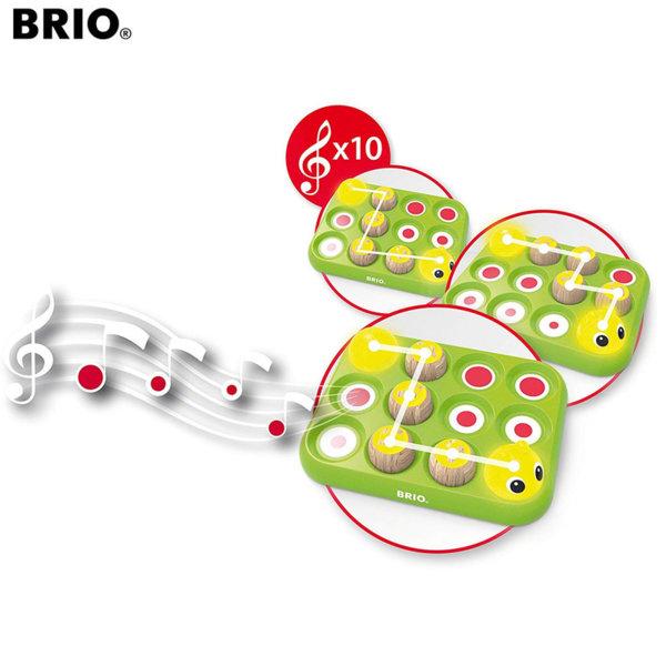 Brio Дървена игра Музикална гъсеница 30189