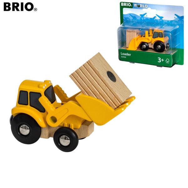 Brio Дървен багер с товар 33436