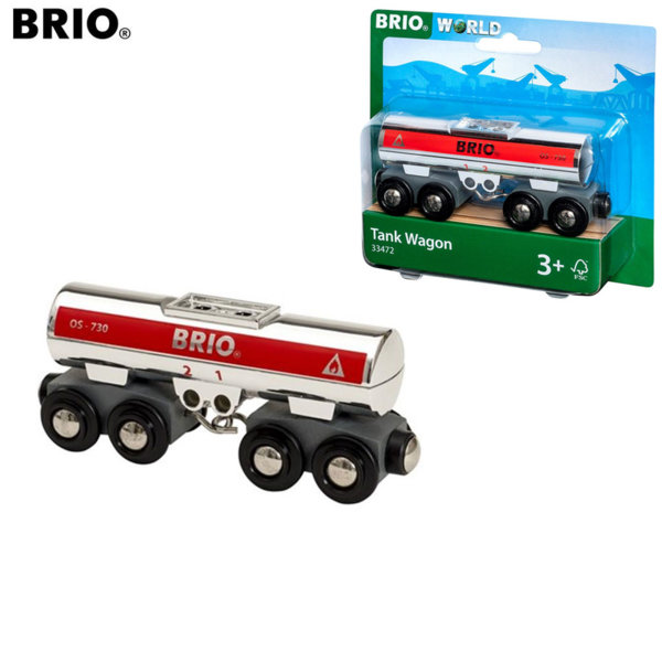 Brio Дървено вагонче цистерна 33472