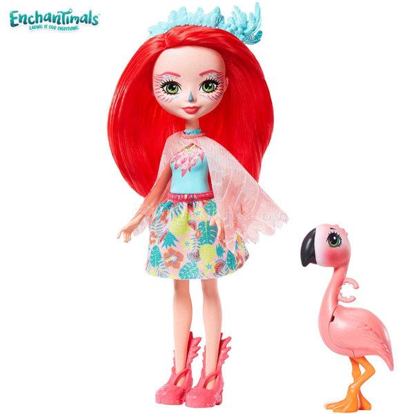 Enchantimals Пазители на гората Кукла Fanci Flamingo с фламинго Swash GFN42