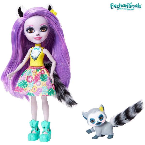 Enchantimals Пазители на гората Кукла Larissa с лемур GFN44
