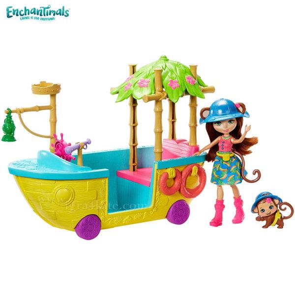 Enchantimals Пазители на гората Игрален комплект лодка в джунглата GFN58