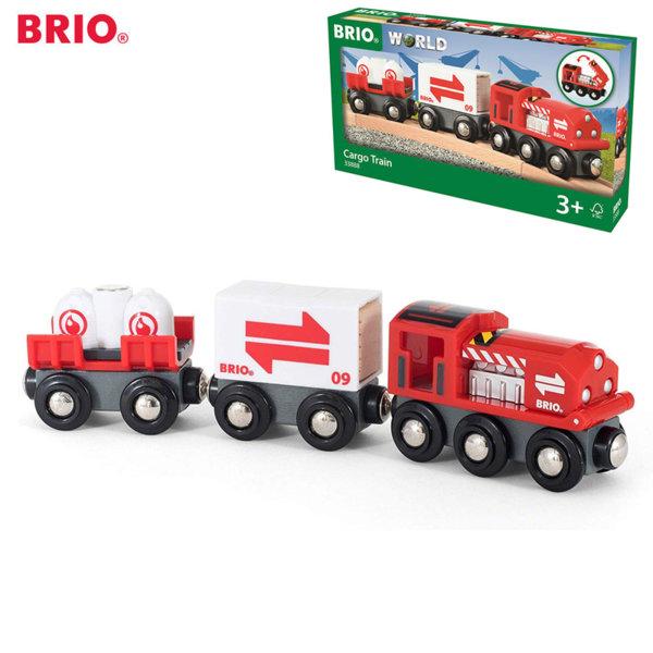 Brio Дървен карго влак 33888