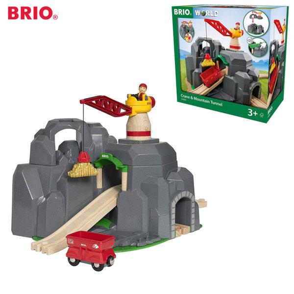 Brio Дървен кран и планински мост за влакoво трасе 33889