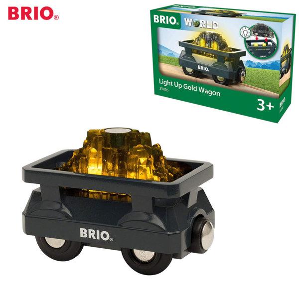 Brio Дървено светещо вагонче за злато 33896
