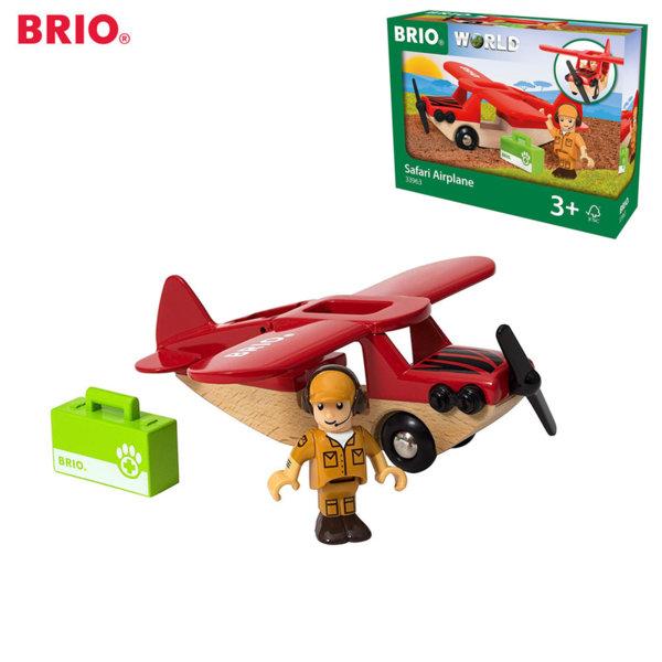 Brio Дървено самолетче Safari airplane 33963