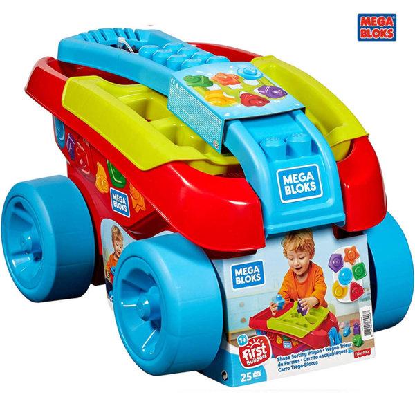 Mega Bloks Детски строител в количка за дърпане FVJ47