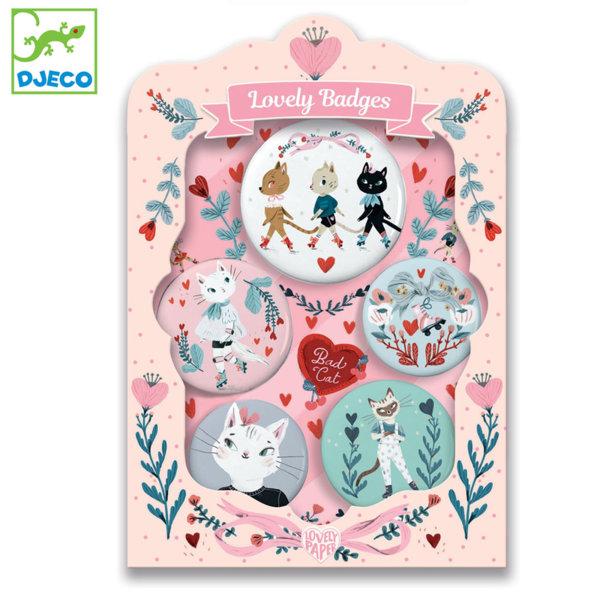 Djeco Детски комплект значки Cats DD03850
