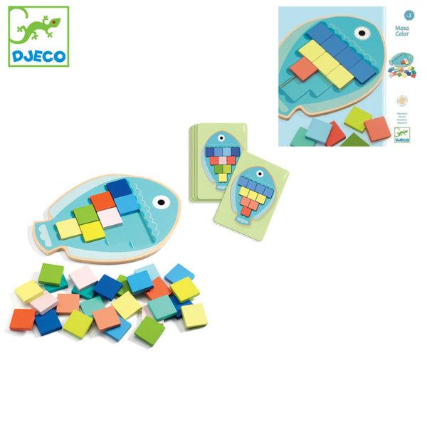 Djeco Детска дървена мозайка риба Mosa Color DJ01665