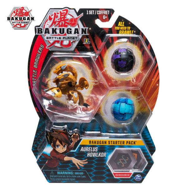 Bakugan Battle Planet Комплект 3 топчета Aurelus Howlkor 6045144