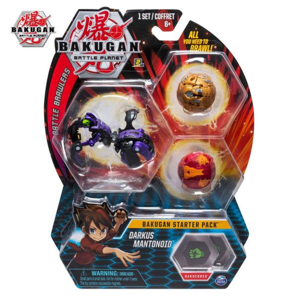 Bakugan Battle Planet Комплект 3 топчета Darkus Mantonoid 6045144