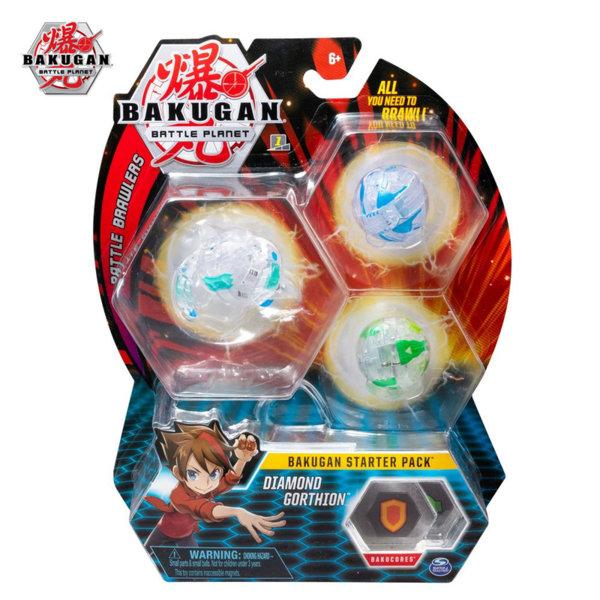 Bakugan Battle Planet Комплект 3 топчета Diamond Gorthion 6045144