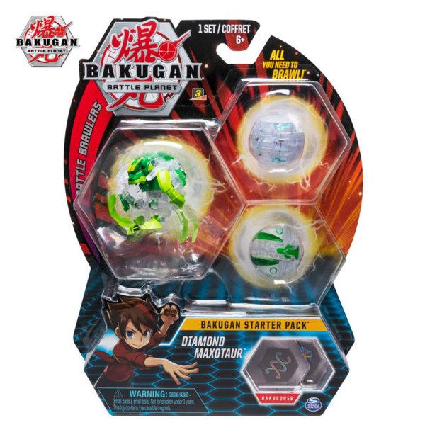 Bakugan Battle Planet Комплект 3 топчета Diamond Maxotaur 6045144