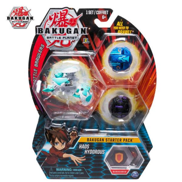 Bakugan Battle Planet Комплект 3 топчета Haos Hydorous 6045144