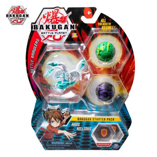 Bakugan Battle Planet Комплект 3 топчета Haos Nilious 6045144