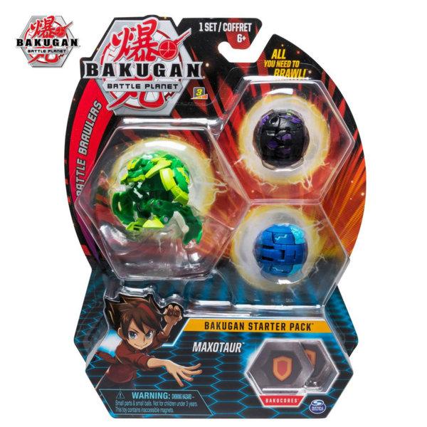 Bakugan Battle Planet Комплект 3 топчета Maxotaur 6045144