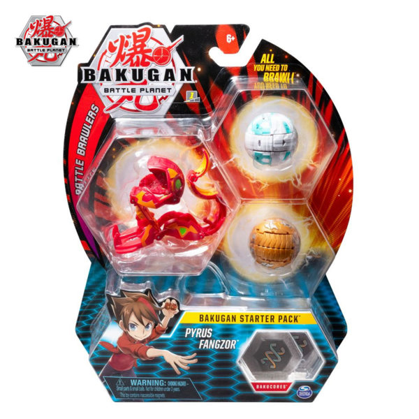 Bakugan Battle Planet Комплект 3 топчета Pyruz Fangzor 6045144