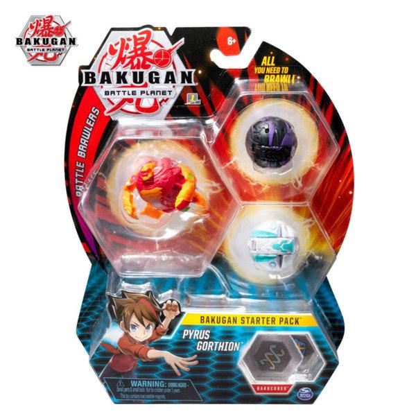 Bakugan Battle Planet Комплект 3 топчета Pyrus Gorthion 6045144