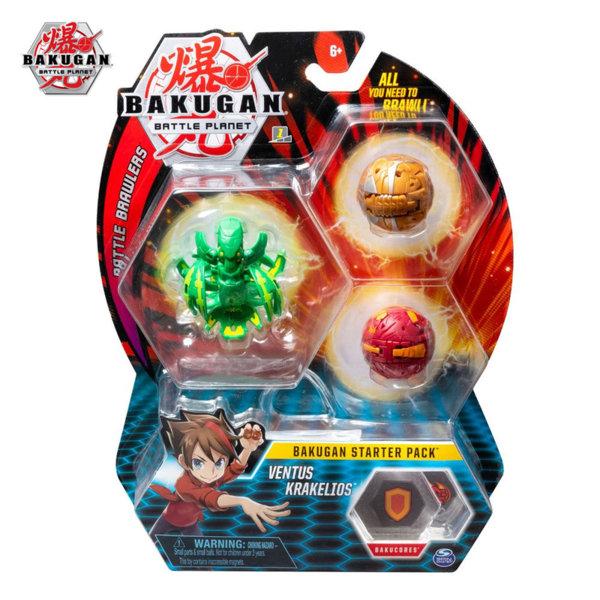 Bakugan Battle Planet Комплект 3 топчета Ventus Krakelios 6045144