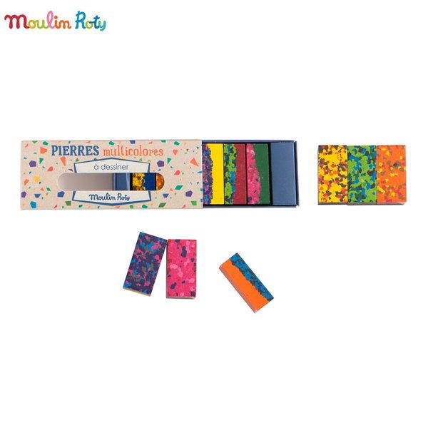 Moulin Roty Многоцветен восък за рисуване 711259