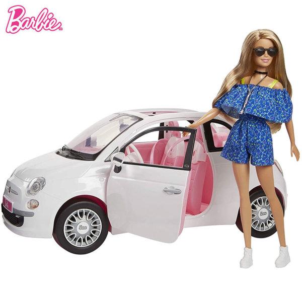 Barbie Кукла Барби с Fiat 500 кабриолет FPR57