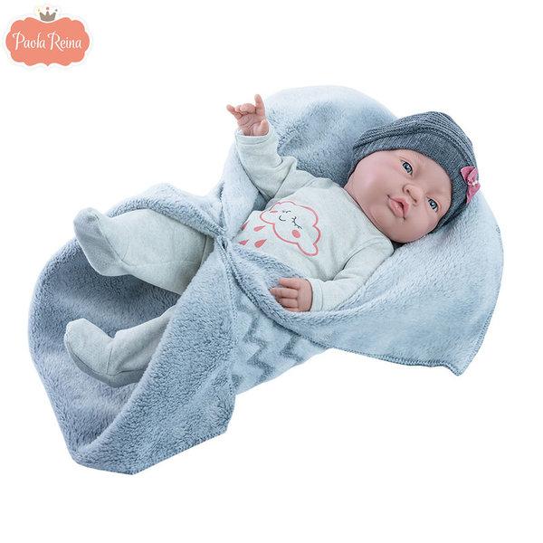 Paola Reina Кукла бебе момиче Bebita Mantita 45см 05185
