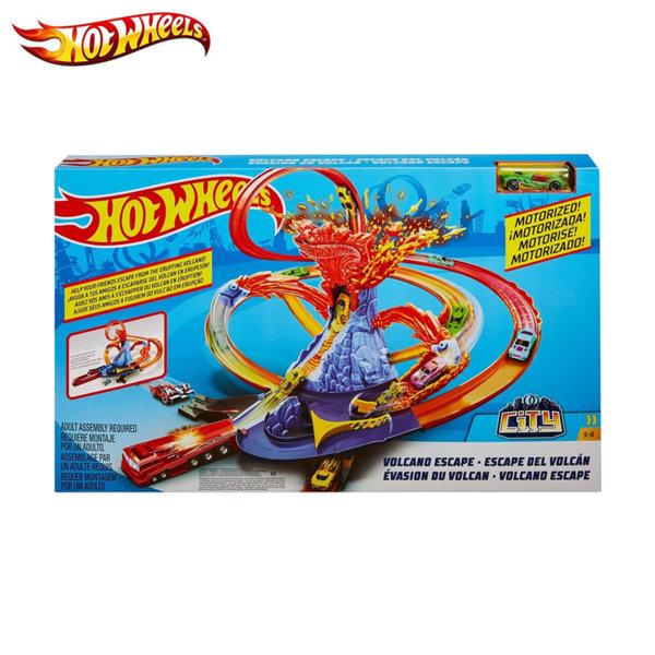 Hot Wheels Писта Бягство от изригващ вулкан FTD61