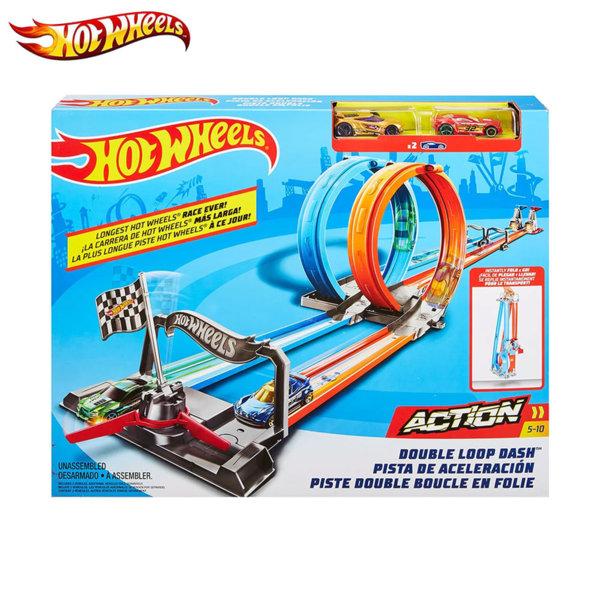 Hot Wheels Игрален комплект писта двоен лупинг GFH85