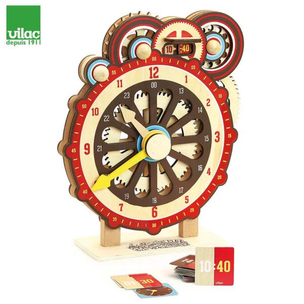 Vilac Дървен образователен часовник Machinalirleur 2042