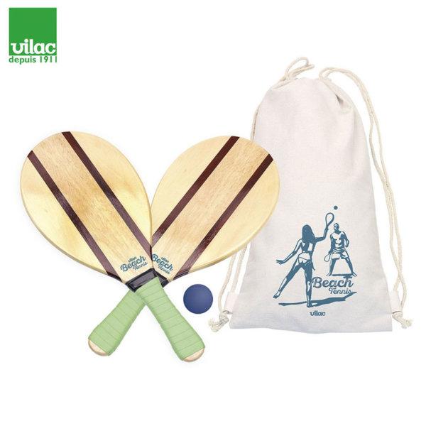Vilac Комплект дървени ракети с топче за плажен тенис 4319