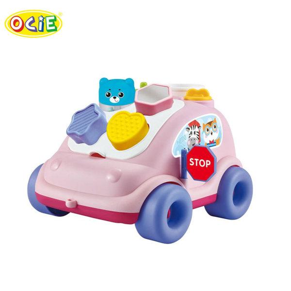 Ocie Детска кола сортер за дърпане Bear bus розова 0904492